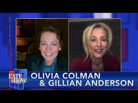 Gillian Anderson on The Late Show with Stephen Colbert