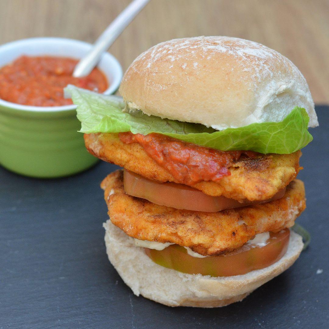 Flaming Hot Chicken Tower Burger