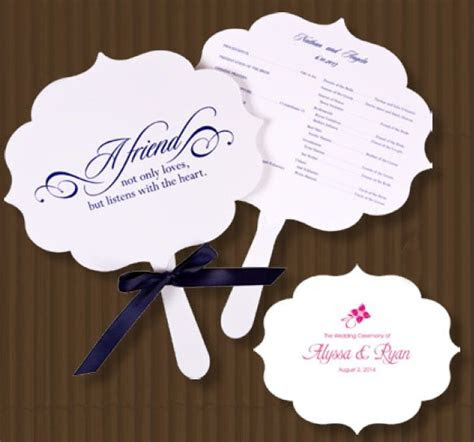 flourish program fans  pcs wedding hand fans