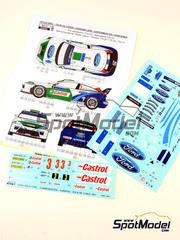 Reji Model: Calcas escala 1/24 - Ford Focus WRC Castrol Nº 3 - Toni Gardemeister (FI) + Jakke Honkanen (FI) - Rally Tour de Corse 2005 - para kit de Hasegawa 20240, 20264
