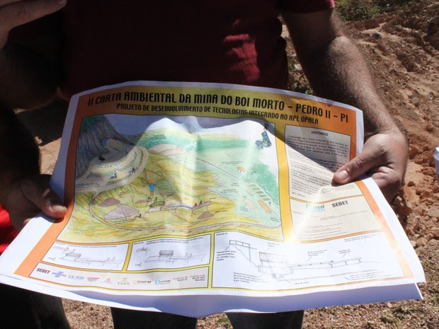 Plano ambiental da Mina do Boi Morto, na Zona rural da cidade (Foto: Pedro Santiago/G1)