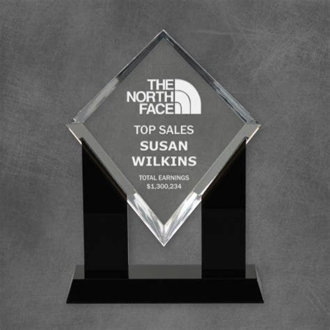 Personalized Acrylic Diamond Top Sales Award