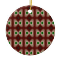 vintage red and green ornament