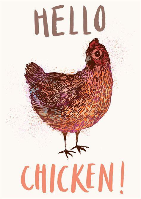 Hello Chicken Tea Towel   Gifts   Love Kates