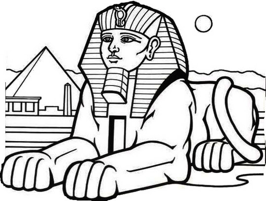 Egyptian Sphinx Drawing | Free download on ClipArtMag