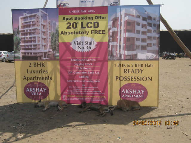 Akshay Aparments Ambegaon - Exhibition Offer - Visit Sakal Gudi Padwa Gruhotsav 2012, New Agriculture College Ground, Range-Hills, Sinchan-Nagar Pune 411 020