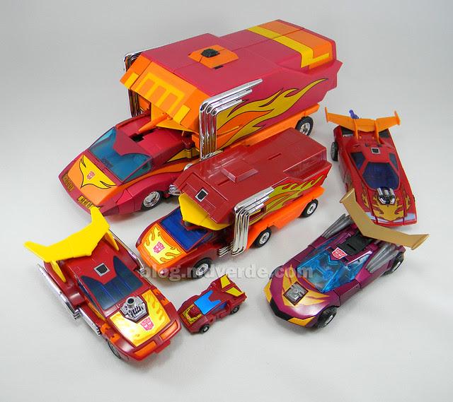 Transformers Rodimus Prime Masterpiece - modo alterno vs otros Rodimus/Hot Rod