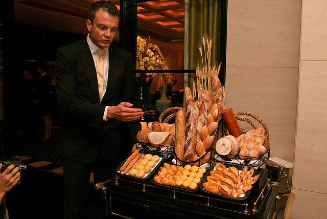 The bread trolley has over 15 types of bread