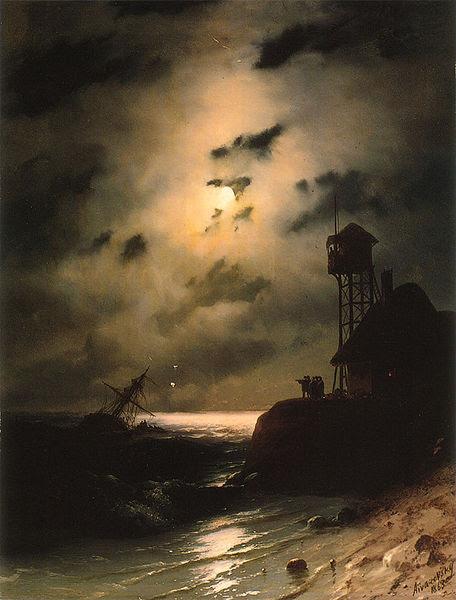 File:Aivasovsky Ivan Constantinovich Moonlit Seascape With Shipwreck.jpg
