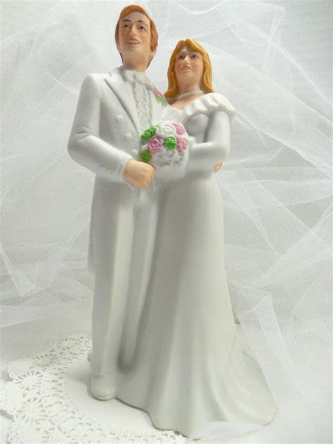 1970s Wedding Cake Topper By Bakery Crafts  Hand Painted