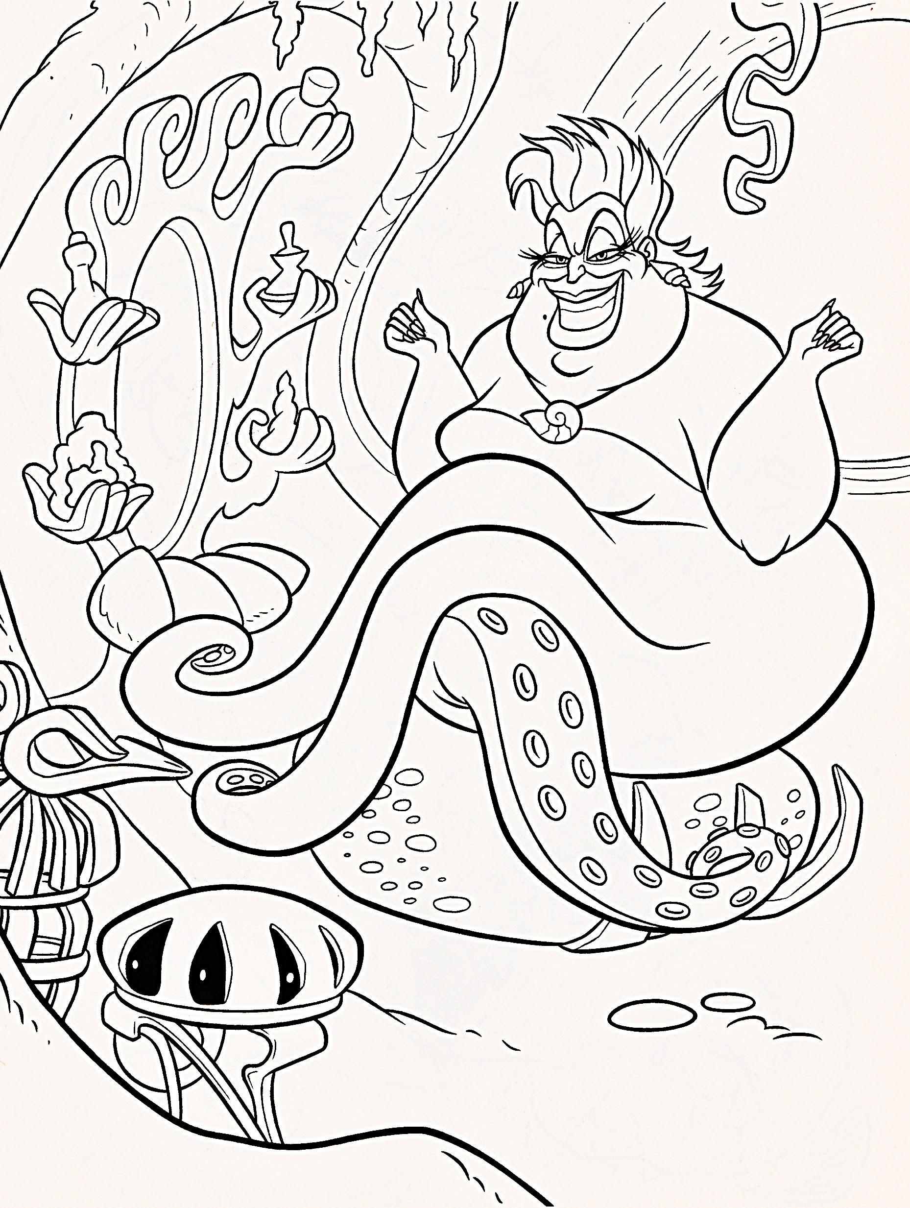 Walt Disney Coloring Pages - Ursula - Walt Disney ...