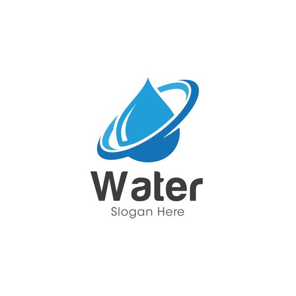 Vector water logo design 02 free download