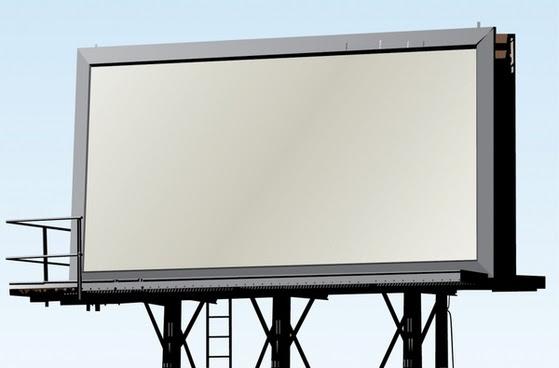 Vector blank billboard transparent background free vector download ...