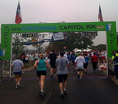 Capitol 10K-finish line!