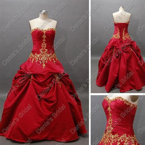 2015 Christmas Luxury Red Wedding Ball Gowns Pleats