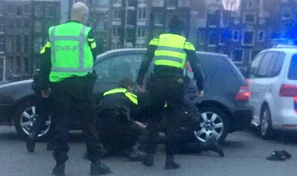 Police arrest as suspect at Amsterdam train station