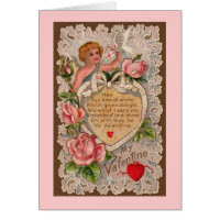 Cupid's Poem Card