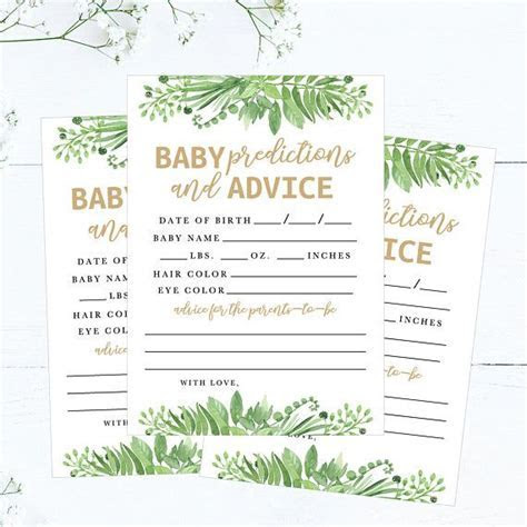 Baby Girl Prediction Cards Mad Libs, Printable Baby