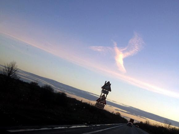 Mysterious 'guardian angel' in the sky gives woman sign of hope