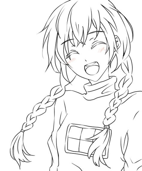 anime girl child lineart  linearts   coloring