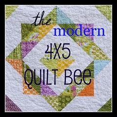 4x5 modern Quilt Bee Badge