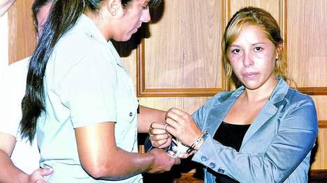 Silvia Luna, cuando fue condenada a 10 años de prisión. La pena se la bajaron a 4 años y medio.