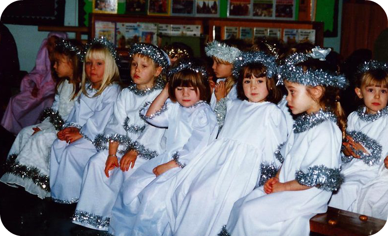 Me as a Christmas angel in a school play
