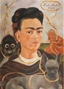 Frida Kahlo Self-Portrait with Small Monkey,