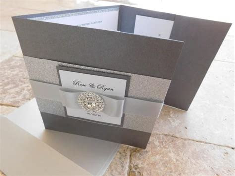 Complete Wedding Invitation Suite With 3 Inserts And