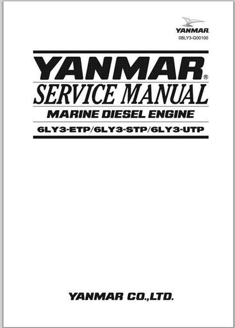 Yanmar Marine Diesel Engine 6LY3-ETP, 6LY3-STP, 6LY3-UTP