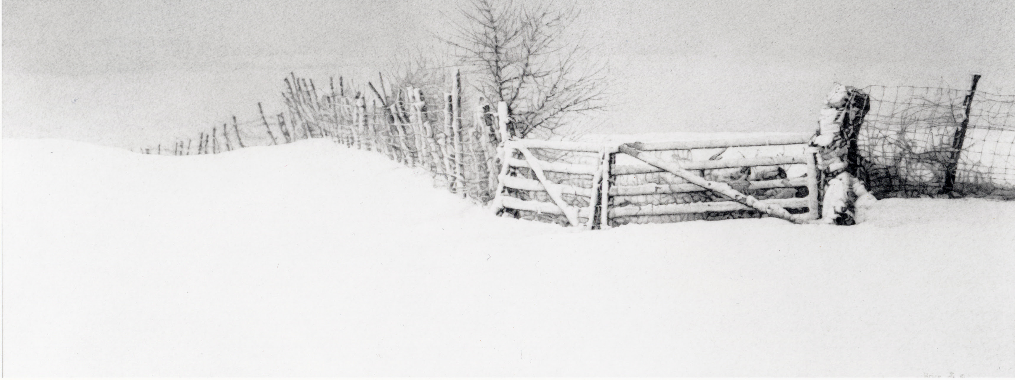 Image result for fence in snow images