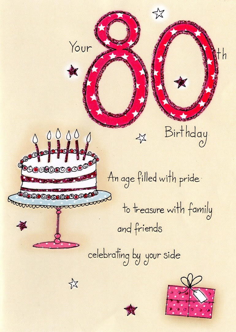 Printable 80th Birthday Cards
