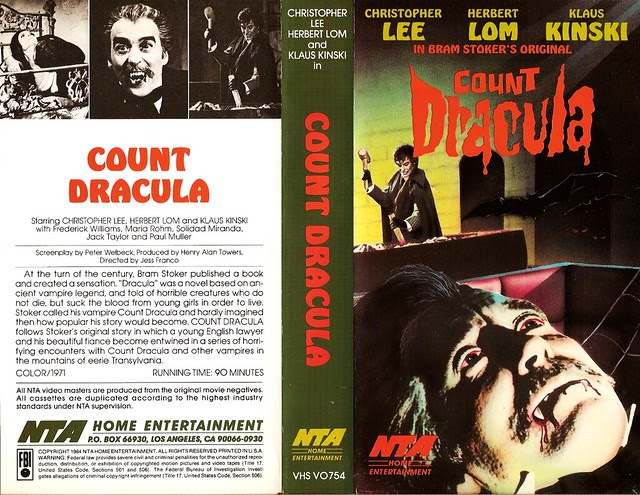 Count Dracula (VHS Box Art)