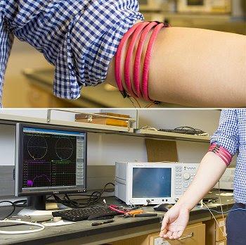 Transmissão magnética de dados pelo corpo humano