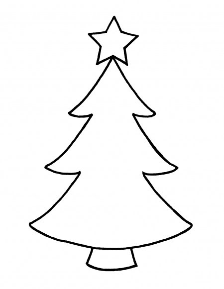 Christmas Tree Outline | Free download on ClipArtMag