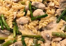 Recipe: Perfect Chicken & asparagus one pot pasta