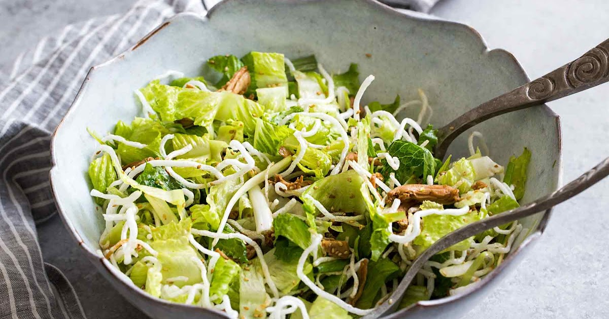 Asian salad. This dressing is so good, I could drink it. I