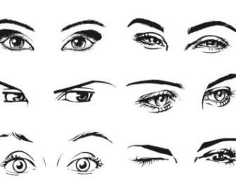 Anime Eyes Clip Art Vector Clip Art Free Vector Free Download