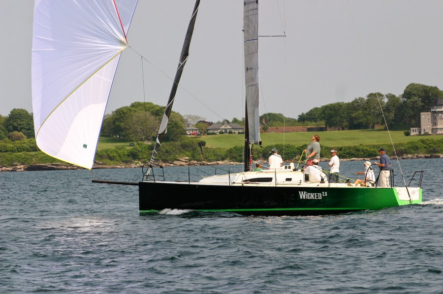 J/111 sailing off Block Island