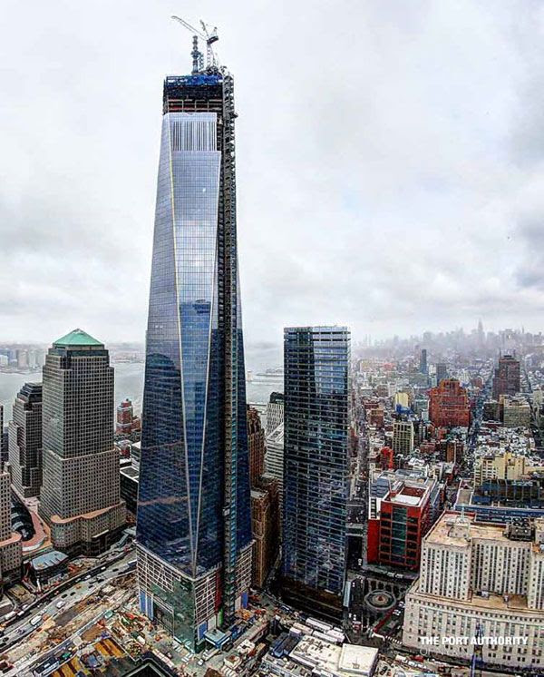 The 1 WTC towers above the New York skyline, on March 26, 2013.