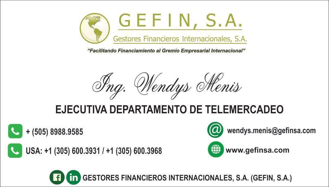 EJECUTIVA DEPARTAMENTO DE TELEMERCADEO: (WENDYS MENIS)