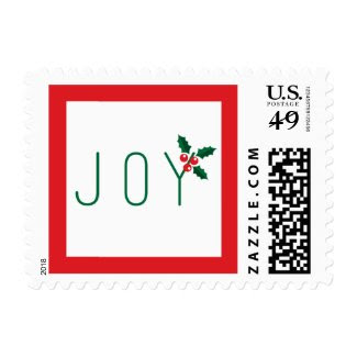 Simple Joy Holiday Postage Stamp