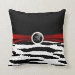 Black & White Zebra Animal Pattern Throw Pillows
