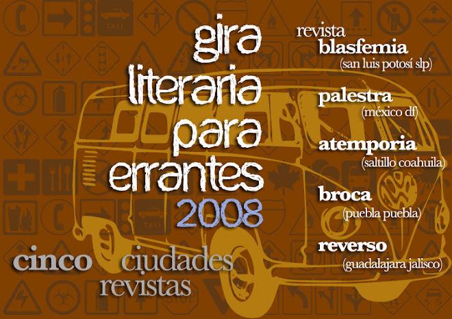 gira literaria para errantes 2008