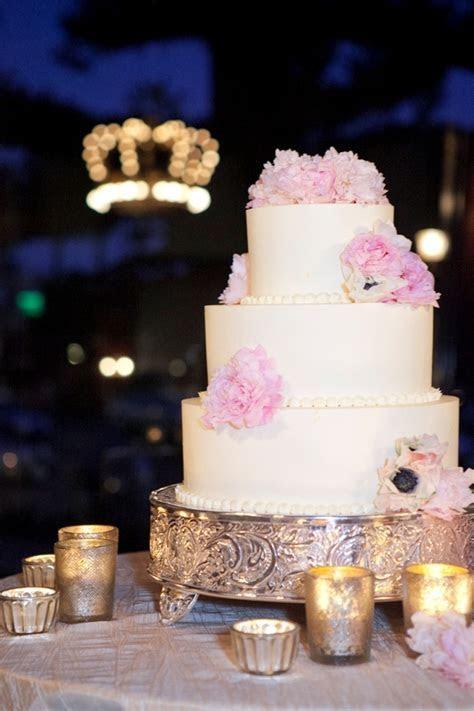 romantic wedding cake ivory 3 tier with light pink fresh