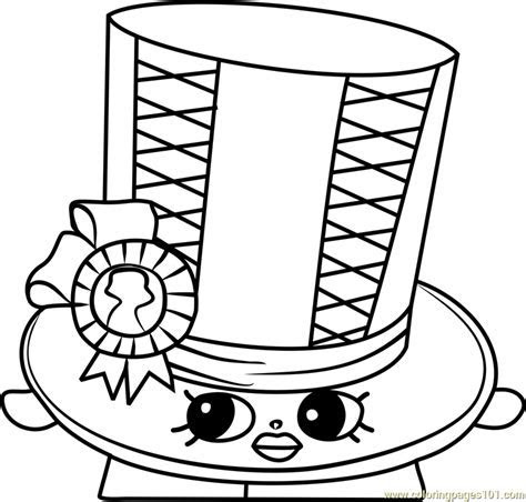 Toni Topper Shopkins Coloring Page   Free Shopkins