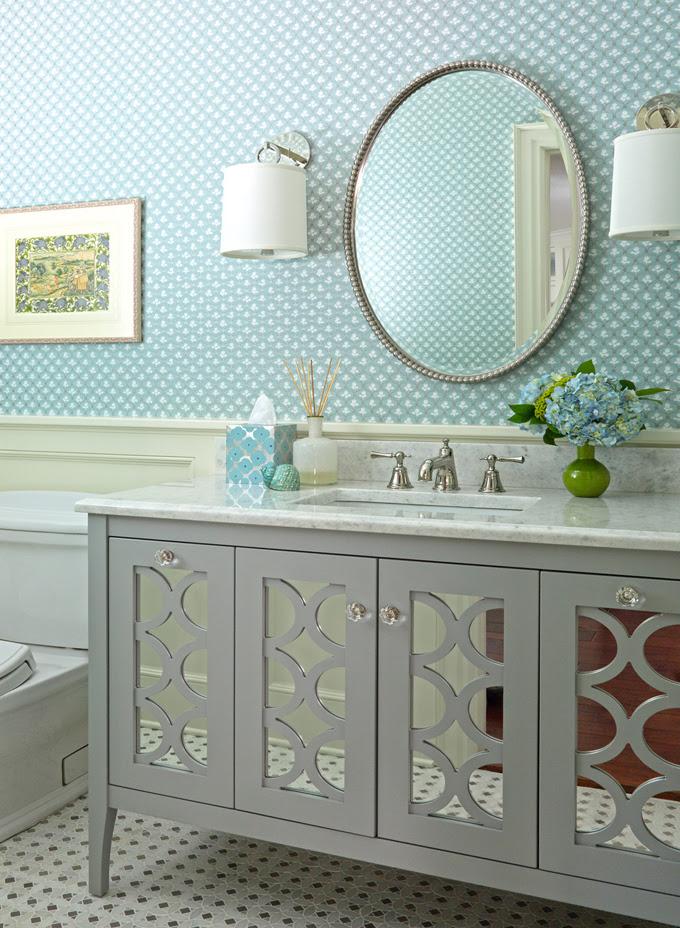 dekorasyon-turkuaz-Turquoise -mavi-ayna-lavabo