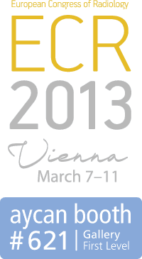 ECR 2013 logo and aycan booth #621