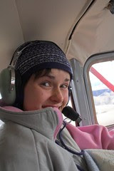 Laura on an airplane ride.