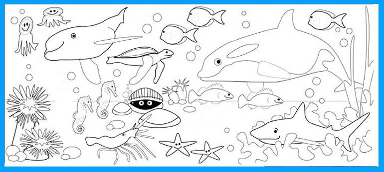 Gambar Pemandangan Alam Bawah Laut Kartun Gambar Pemandangan